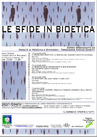 Corso di Bioetica 2006/2007