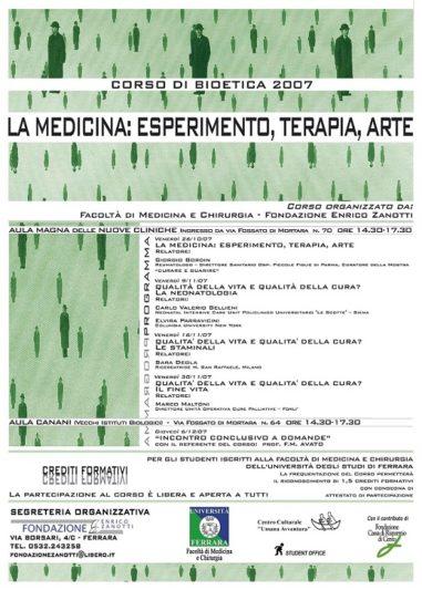 Corso di Bioetica 2007/2008