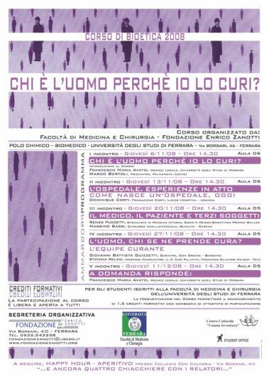 Corso di Bioetica 2008/2009