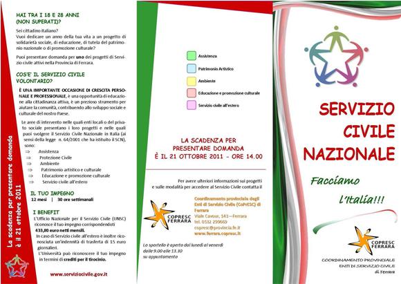 Volantino scv 2011