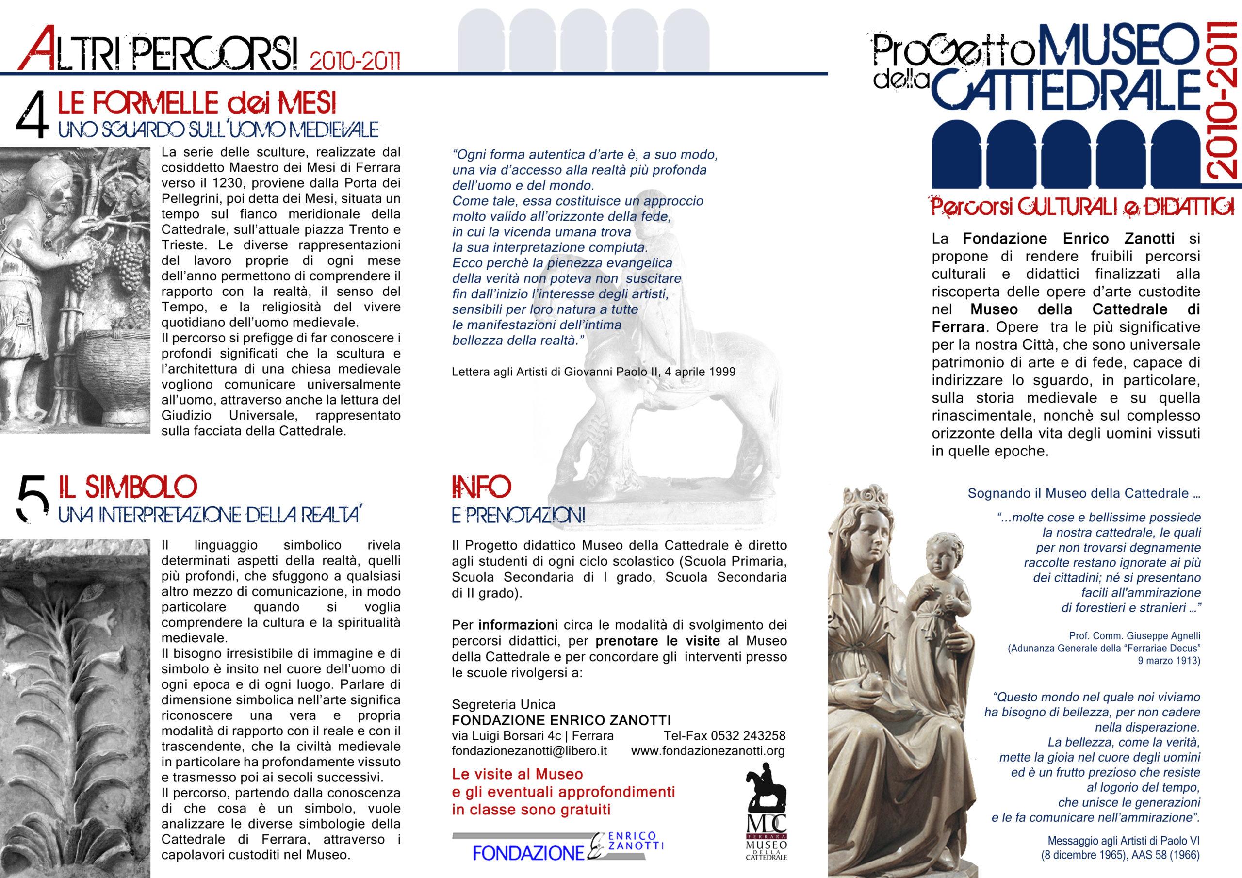 Pieghevole MUSEO 2010-2011 Esterno 1
