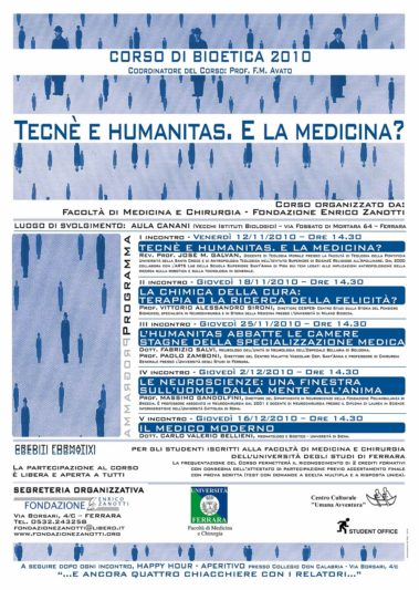 Corso di Bioetica 2010/2011