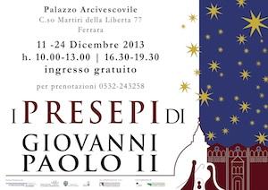 Mostra presepi Giovanni Paolo II