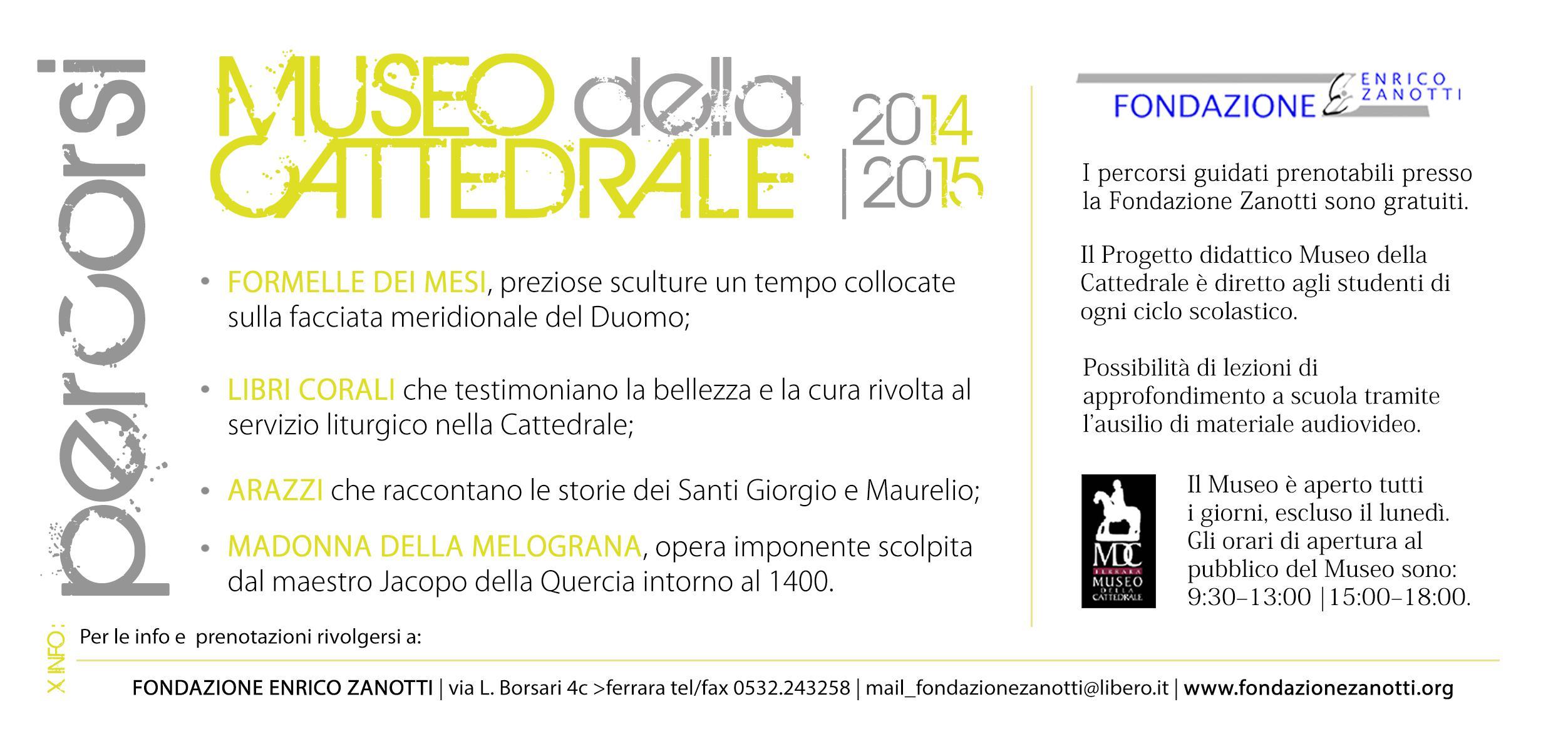 Museo Cattedrale 2014 - 2015 retro