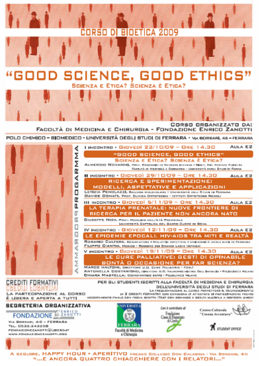 Corso di Bioetica 2009/2010